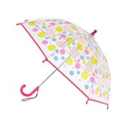 CTM® Kid's Manual Open Polka-Dot Print Clear Umbrella