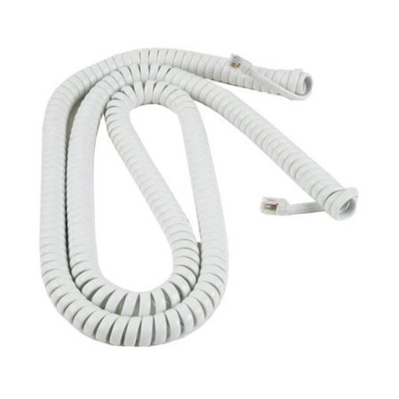 Cord 25 Handset Cords (RCA 25 feet Handset Coil Cord, White (TP282W) )
