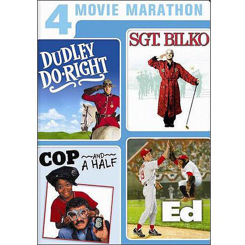 4 Movie Marathon: Family Comedy Collection - Dudley Do-Right / Sgt. Bilko / Cop And A Half / Ed (Widescreen)