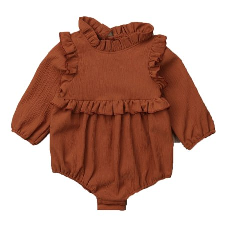 3cd0805a6 Gaono - Infant Baby Girls Princess Long Sleeve Frilled Romper ...