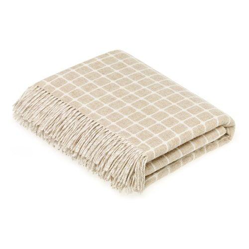 Gracie Oaks Bruner Merino Check Wool Throw
