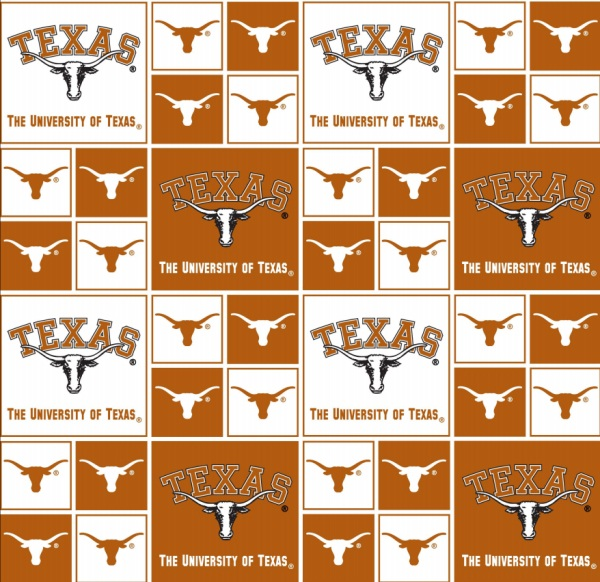 Ncaa Cotton Texas Longhorns Allover Fab