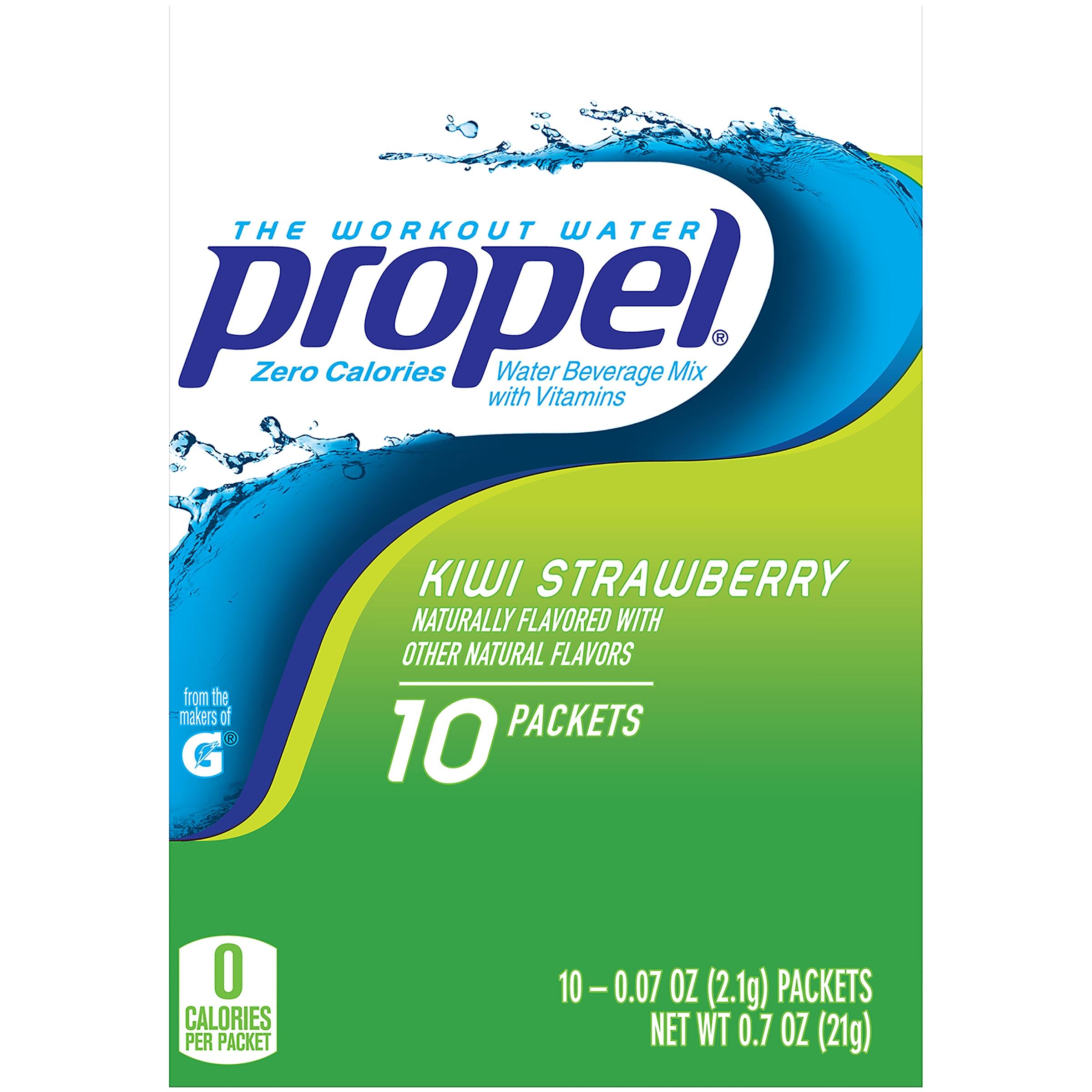 Propel® Kiwi Strawberry Zero Calorie Water Beverage Mix 10-0.07 oz. Packets