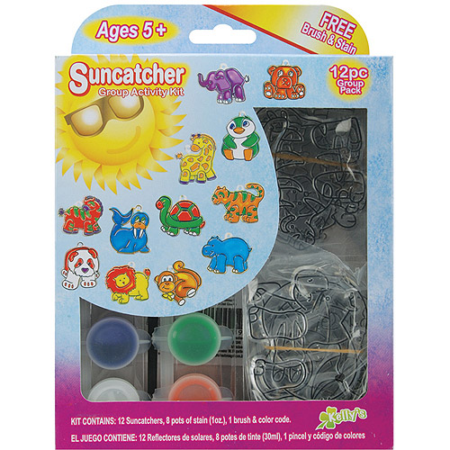 Suncatcher Group Activity Kit, Zoo, 12/pkg