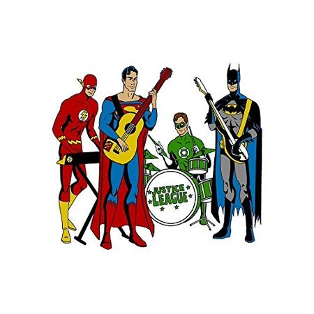 Justice League Music Band Superman Flash Green Lantern Batman Edible Image Photo 1 4 Quarter