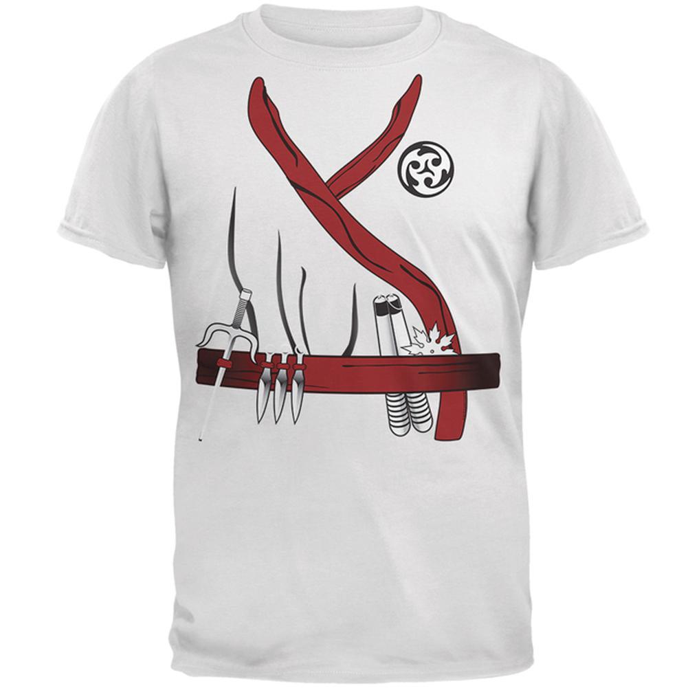 Halloween Red Clan Ninja Assassin Costume Mens T Shirt