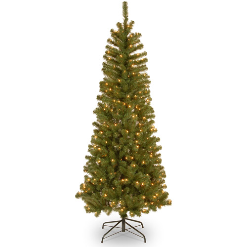 National Tree Pre-Lit 6.5' Alberta Spruce with 300 Clear Twinkle Lights