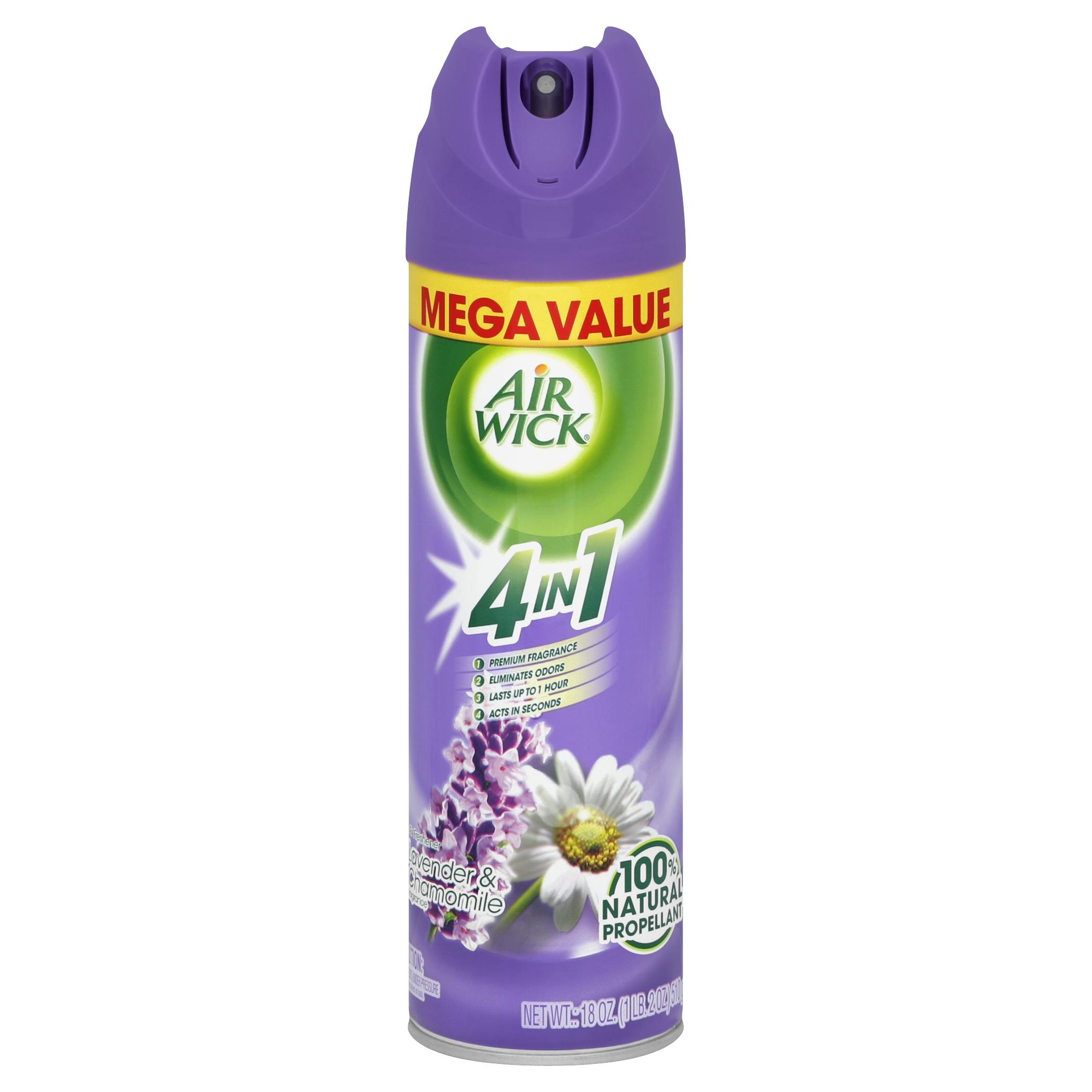 Air Wick Aerosol Spray Air Freshener, Lavender and Chamomile, 18 Ounce