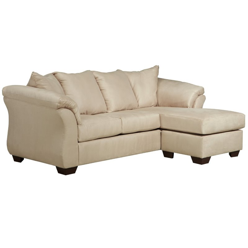 Flash Furniture Microfiber Right Facing Sectional in Stone
