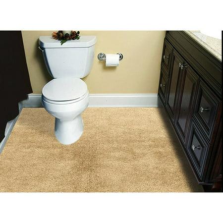 Customizable 6'x8' Plush Wall-to-Wall Bathroom Carpeting