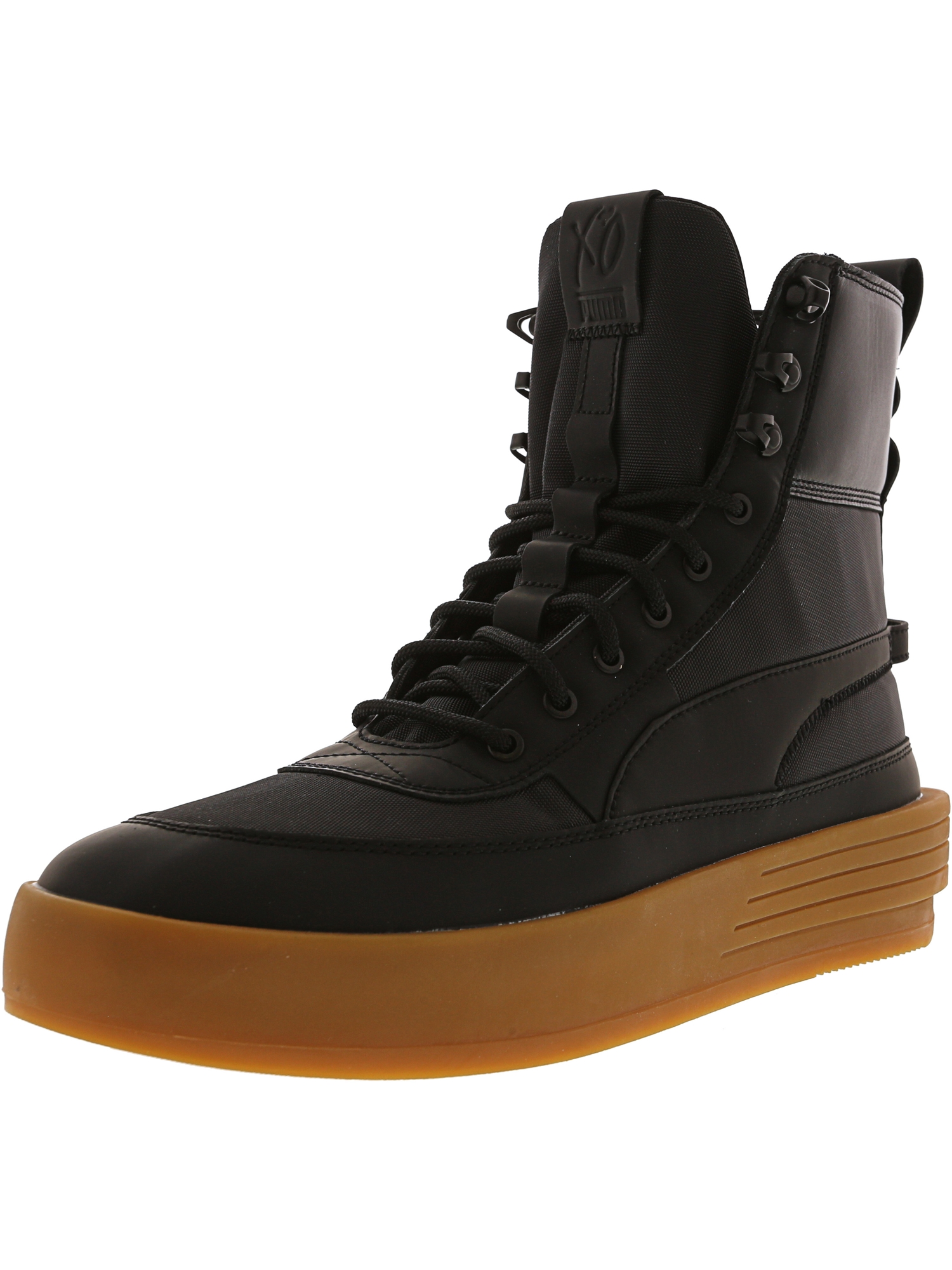 Puma Men's Xo Parallel Tactical Black / High-Top Nylon Fashion Sneaker - 9.5M