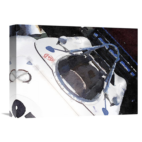 Naxart 'Racing Car Cockpit Watercolor' Painting Print on Wrapped Canvas