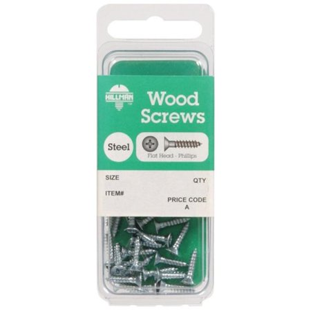 Hillman 5802 Zinc Plated Steel Wood Screws  8 x 3 in. - pack of 10 - image 1 of 1