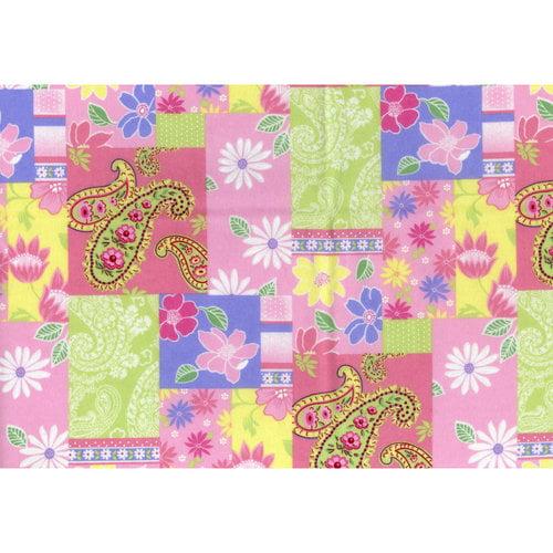 Fleece Prints Paisley Patch Fabric