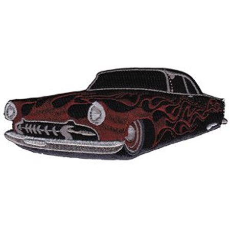 Patch - Automoblies - Hot Rod with Flames Iron On Gifts New Licensed p-3592 - image 1 of 1