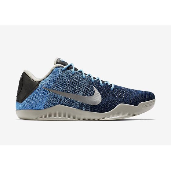 c5205763357d Nike - Mens Nike Kobe 11 XI Elite Low Brave Blue Metallic Silver ...