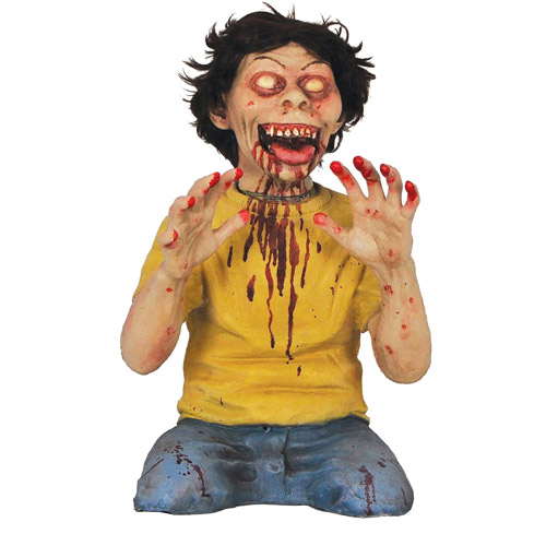 "25"" Tall Twisted Teaser Boy Halloween Animated Prop"