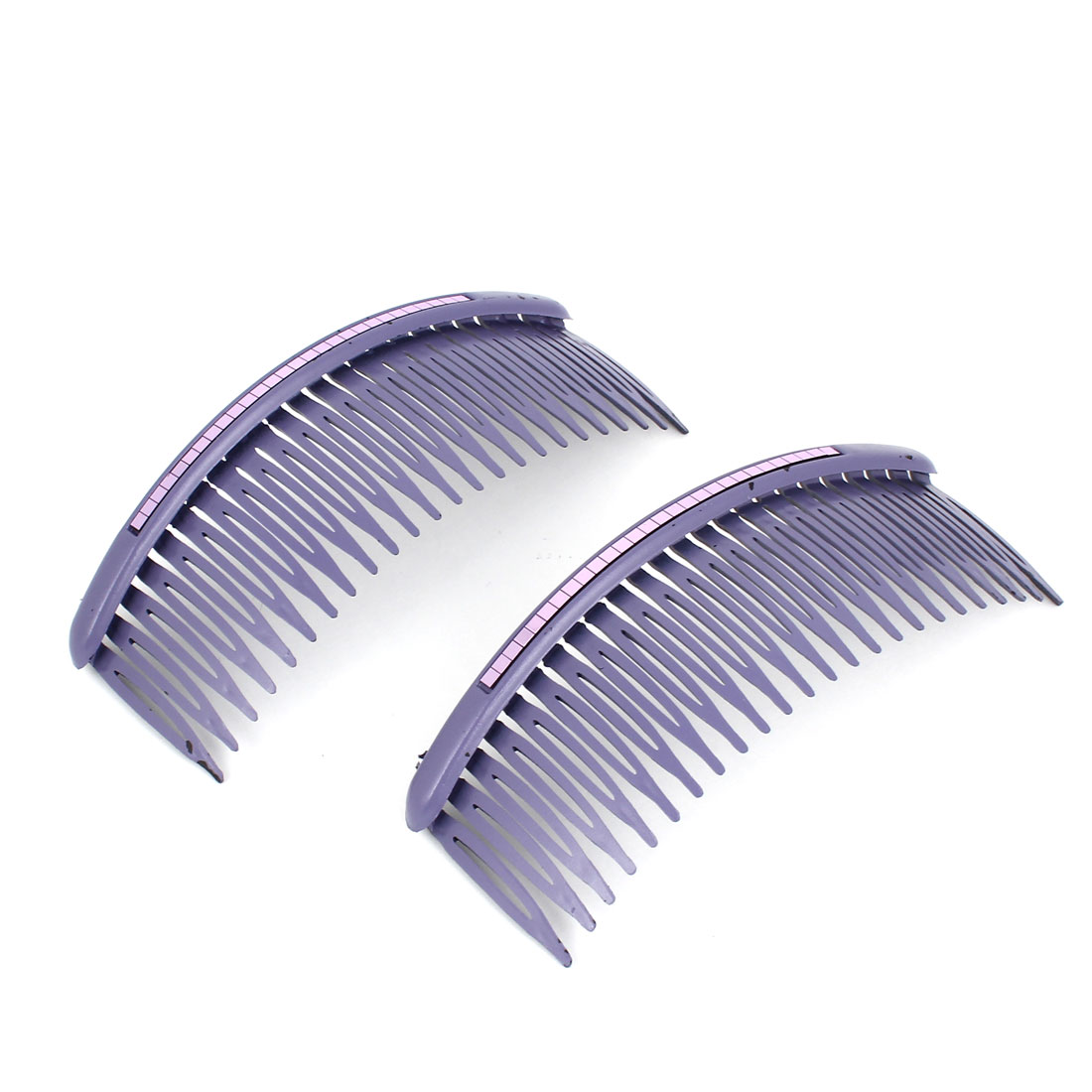 2pcs Makeup Tool Hairdress Comb Shape Hair Clip Clamp Purple for Women