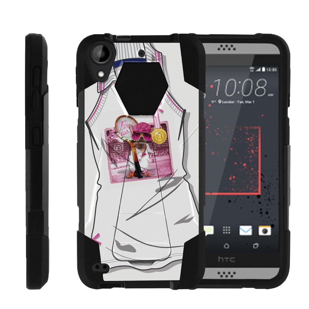 HTC Desire 530 | Desire 630 Shock Fusion Heavy Duty Dual Layer Kickstand Case -  Snow Architecture