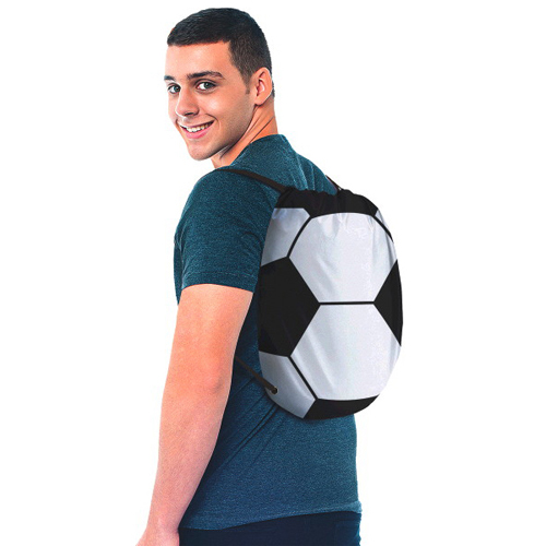 Soccer Drawstring Sling Backpack (1ct)