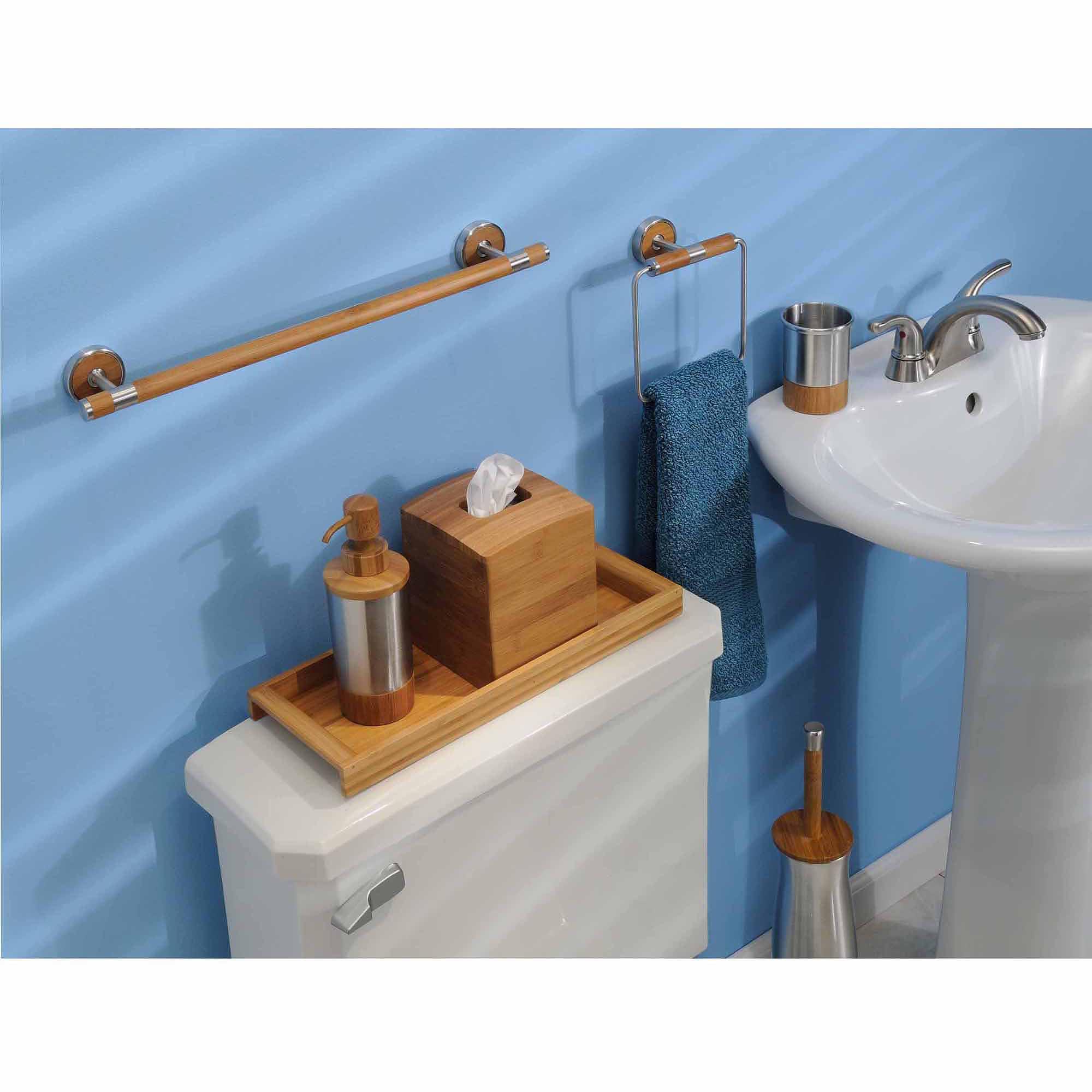 Interdesign Formbu Vanity Tray Bamboo Walmart Com Walmart Com