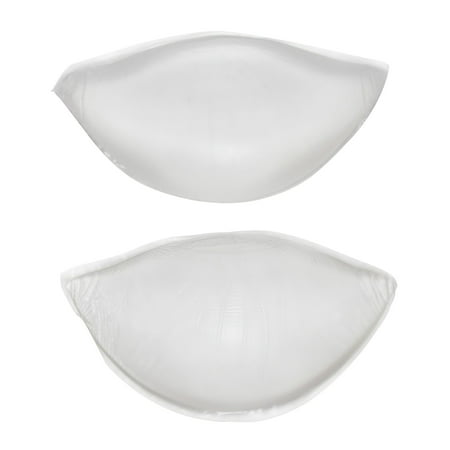 Flirtzy Silicone Soft Gel Bra Inserts Clear Breast Push Up Super Wedge Waterproof Push Up Bra Pads Chicken Cutlets Add a Cup Size Bra Pads (Bliss Soft Cup Bra)