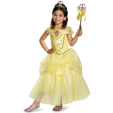 Disney's Beauty and the Beast Belle Deluxe Costume for Kids - Size SMALL (Plus Size Princess Belle Costume)