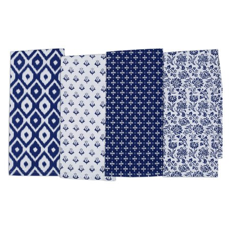Blue Dish Towel - DII Blue Market Dishtowel - Set of 4