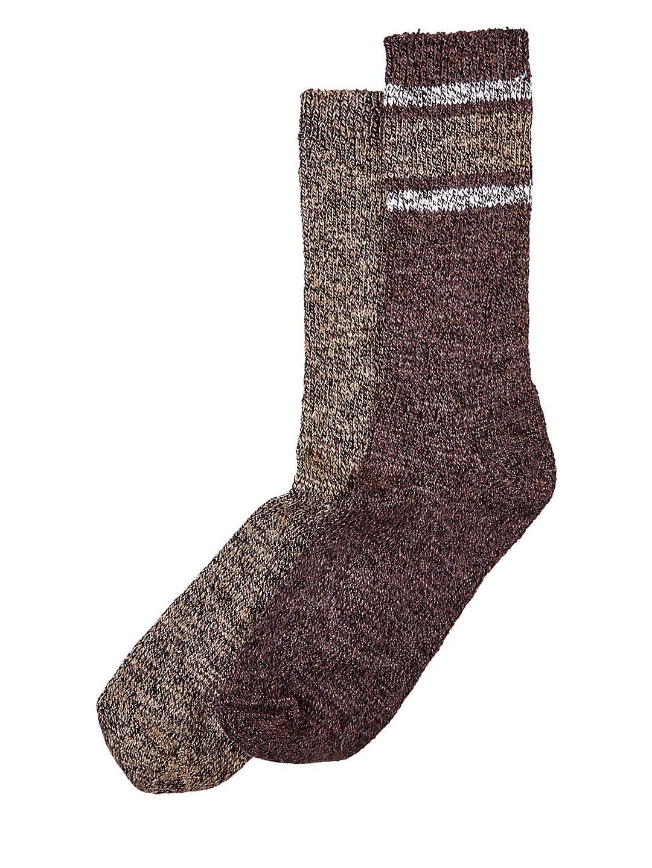 Two-Pack Marled Striped Boot Socks