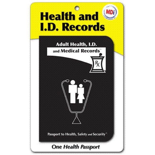 MDI 10011 Adult Health Passport- Pack of 12