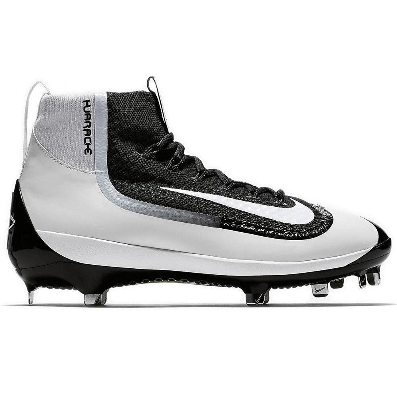the latest 8ae7d ee473 ... new style nike air huarache 2k filth elite mid mens metal baseball  cleats 12.5 black white