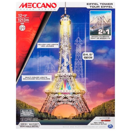 - Meccano by Erector, 2 in 1 Model Kit: Eiffel Tower & Brooklyn Bridge