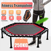 40'' Large Folding Exercise Trampoline RebounderKids Fun Fitness Jump Training EquipmentMax Load 550lbs | Safety & Stable | Silent BouncingIndoor/Outdoor Home Garden