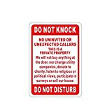 ALEKO Aluminum Do Not Knock Do Not Disturb Sign
