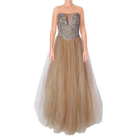 1aa85e4f122 Terani Couture - Terani Couture Illusion Strapless Formal Dress ...