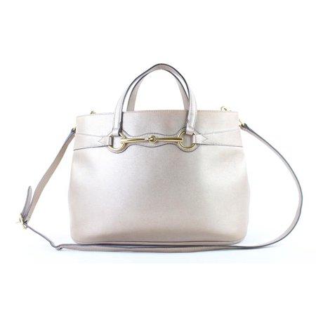 Gucci Leather Bright Bit Convertible Tote 222931 Shoulder Bag