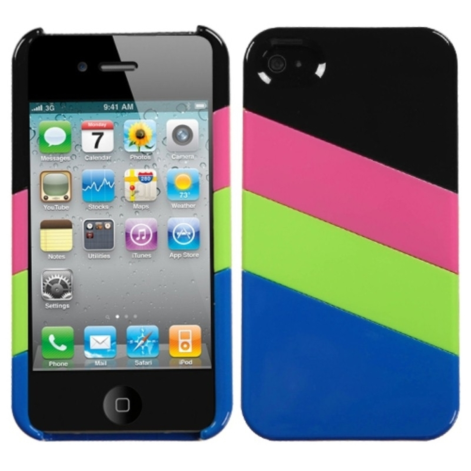 Insten MyColor Splash Case (008) (with Package) For iPhone 4/4S