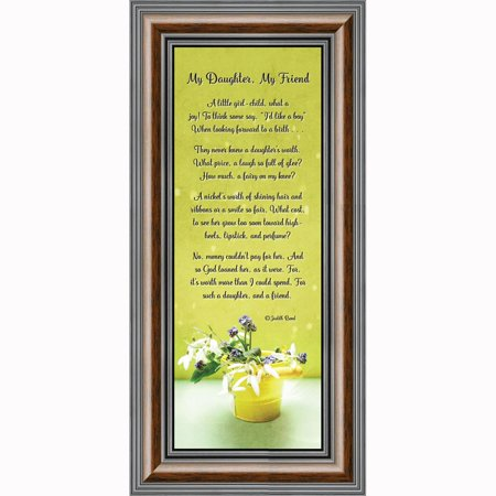 My Daughter, My Friend, Daughter Gifts, Picture Frame from Mom to Daughter, 6x12 7330 (Yellow Picture Frame From Friends)