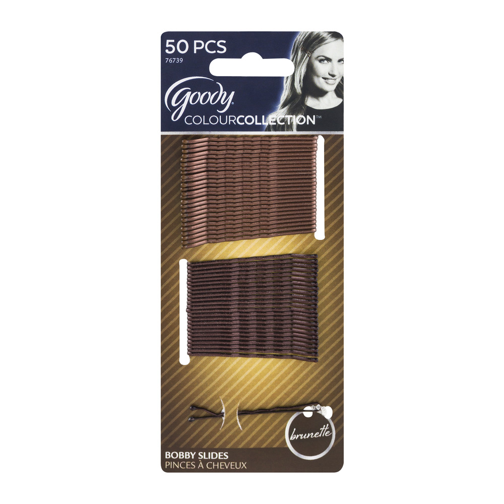 Goody ColourCollection Bobby Slides Brunette - 50 CT