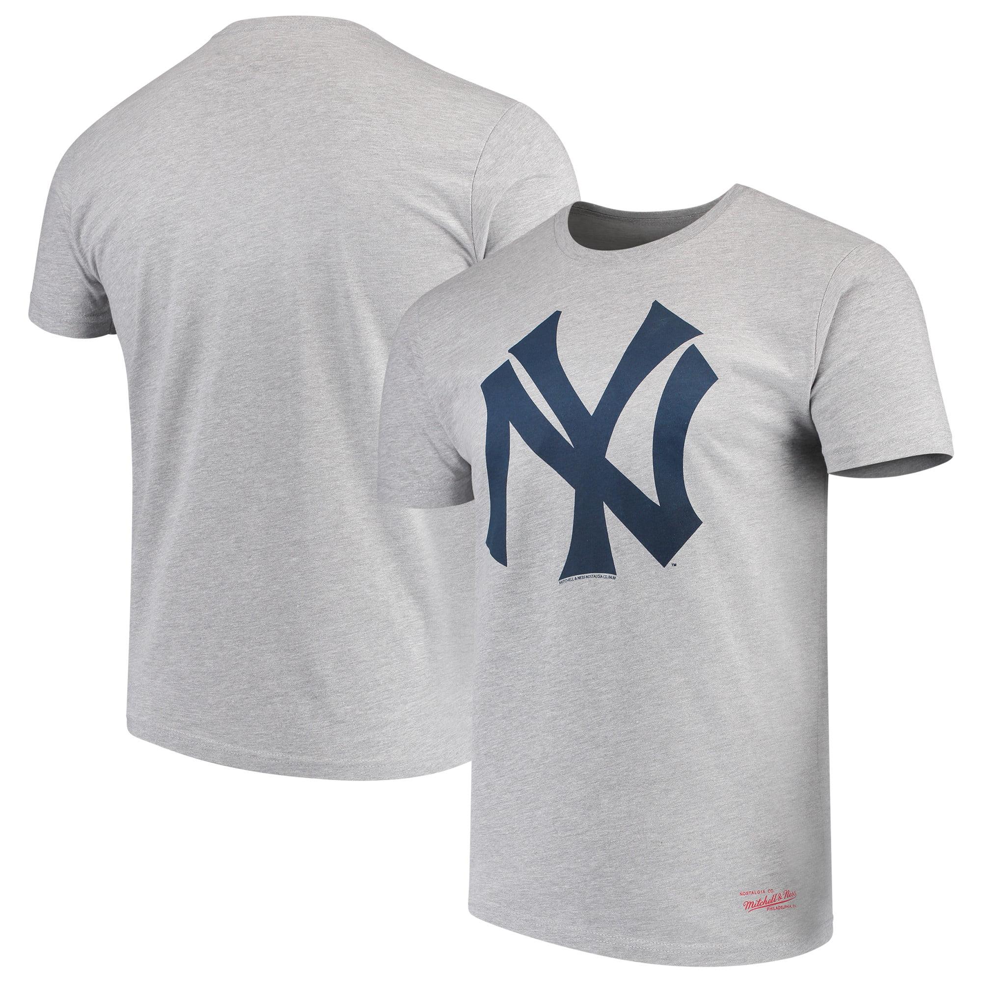 New York Yankees Mitchell & Ness XL Logo Tailored T-Shirt - Gray