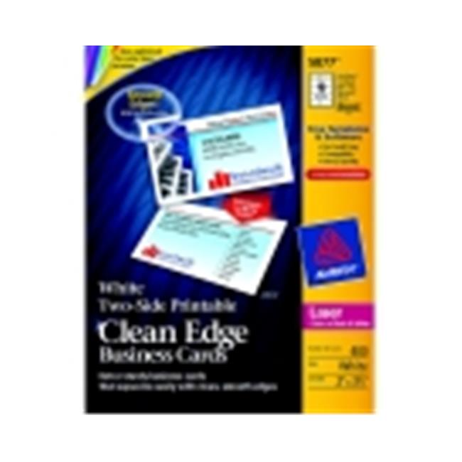 Avery 2 x 3. 5 inch Laser Printers Clean Edge Two-Sided Printable Business Card- White, Pack 400