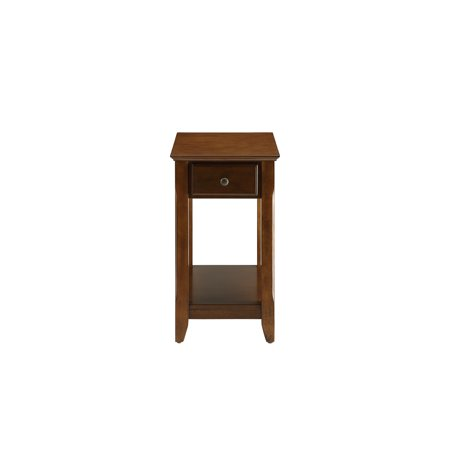 Walnut Veneer Mdf - Side Table in Walnut - MDF, Wood Veneer, Solid W Walnut,Walnut