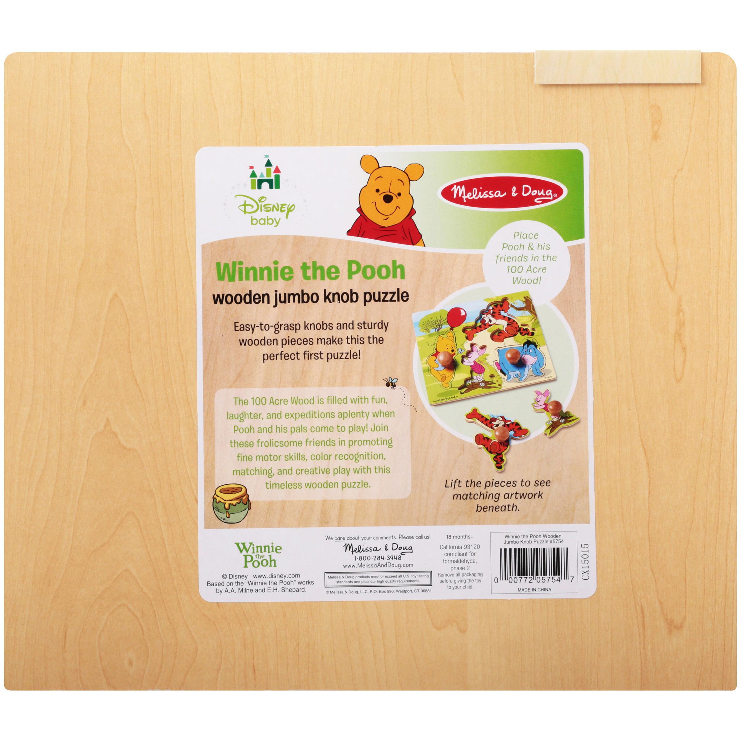 Melissa & Doug Disney Winnie the Pooh Wonder Jumbo Knob Puzzle ...