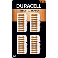 Duracell Hearing Aid Size 312 Batteries, 32 Count