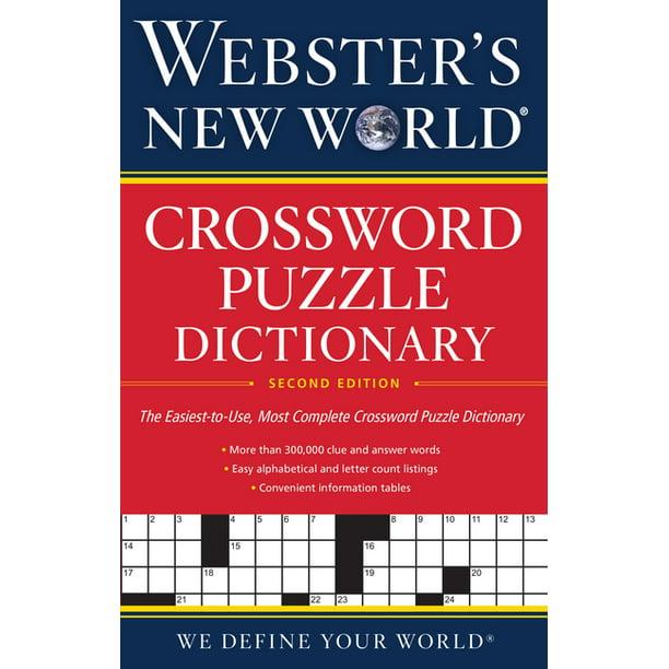Webster S New World R Crossword Puzzle Dictionary 2nd Ed Paperback Walmart Com Walmart Com