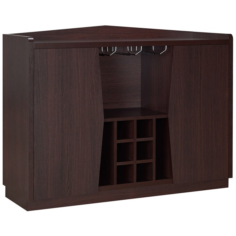 Furniture of America Sylvan Wine Rack Buffet in Espresso