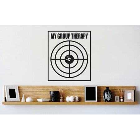Top Selling Decals   Prices Reduced Vinyl Wall Sticker   My Group Therapy Bullseye Target Image Quote Mural 16X16