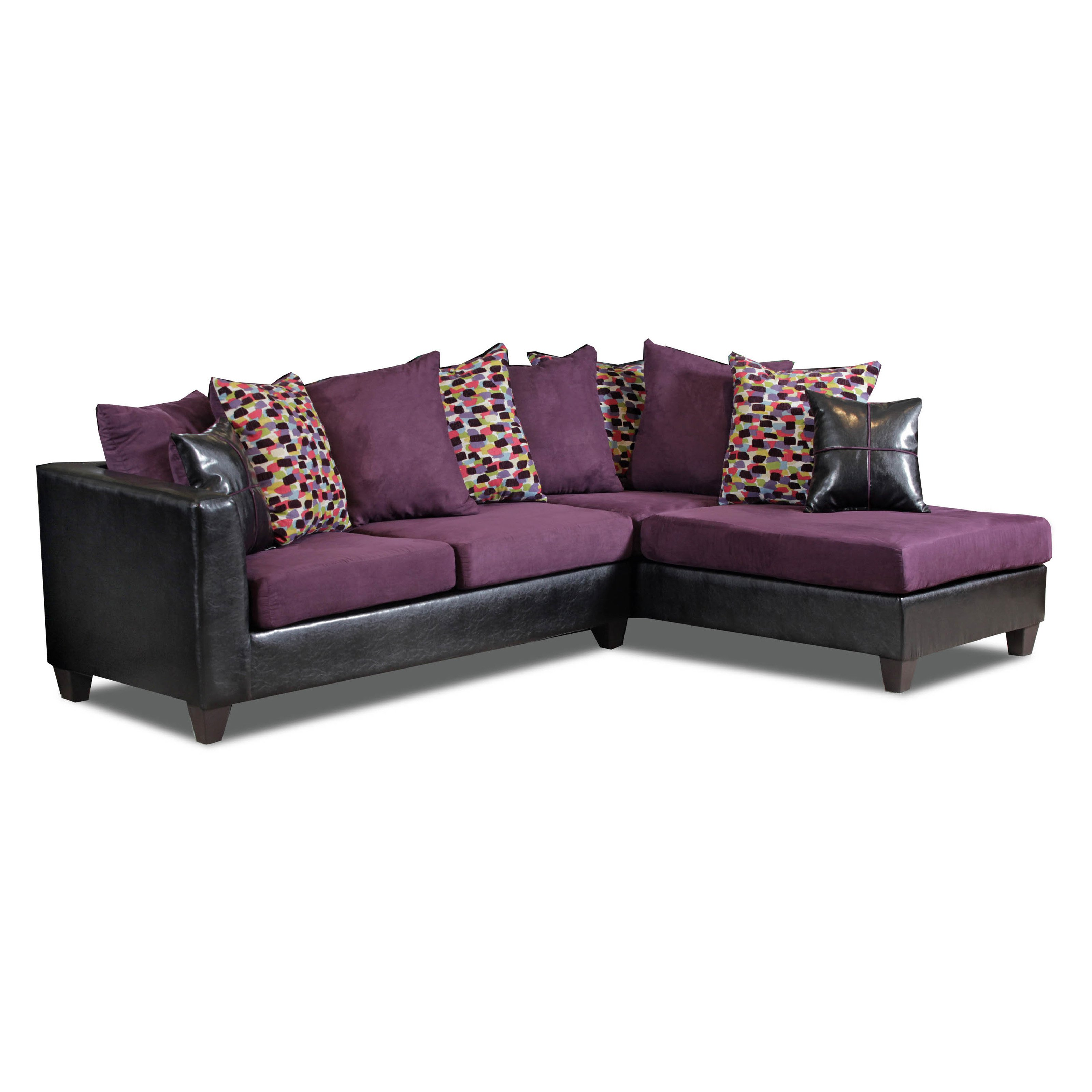 Chelsea Home Bates 2 Piece Sectional Sofa with 10 Toss Pillows