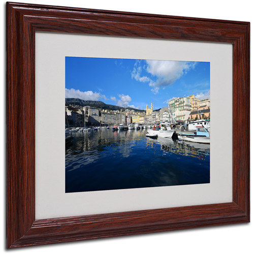 "Trademark Fine Art ""Bastia-Corsica"" Canvas Art by Philippe Sainte-Laudy, Wood Frame"