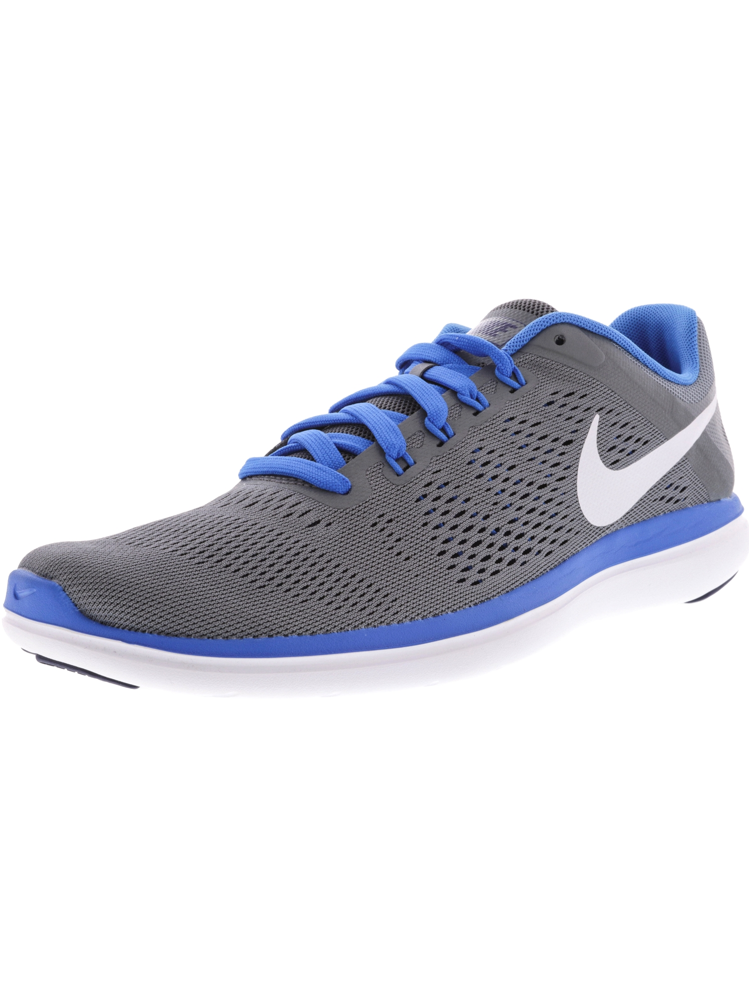 Nike Men's Flex 2016 Rn Black / White-Cool Grey Ankle-High Running Shoe - 11M